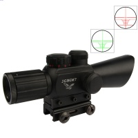 M7 4X30EG R14 Red/Green Illuminated Angled Integral Sunshade Hunting Rifle Scope/20mm /red laser