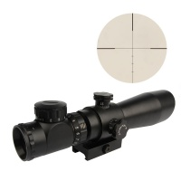 3-9X42EG  Red/Green  Angled Integral Sunshade Hunting Rifle Scope with 20mm QD Mount
