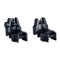Flip-up Rifle Sights Kit Rear and Front night Sight for Rifles and Picatinny Rails BK