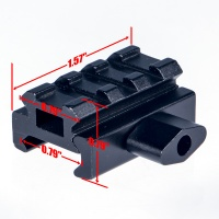 D0016 Aluminum Alloy Tactical Scope Riser Base Mount 20mm Adapter Bracket For Picatinny/Weaver Rail