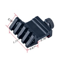 Tactical Hunting Accessories 4 Slot angle of 45 degrees Offset Fit 20mm Weaver Rail Mount Quick Rele