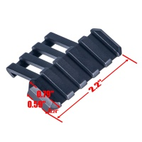 Y0074 Tactical 5 Slot One Side 30 Degree Angle Offset 20mm Rail Mount for Weaverer Picatinny Rail Ac