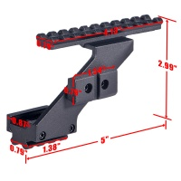 Universal Tactical Pistol Scope Mount Weaver & Picatinny Rail Pistol Rail for adding Scope Sight Fla
