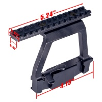 Tactical Metal Top Rail Mount  AK74U Side Locker QD Picatinny Rail Scope Mount Sight Steel Mount  AK