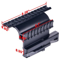 Tactical Metal Double Rails Mount  AK74 Side Locker QD Picatinny Rail Scope Mount Sight Steel Mount