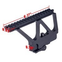 Tactical Metal TOP Rails Mount  MI AK74U Side Locker QD Picatinny Rail Scope Mount Sight Steel Mount