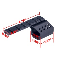 Aluminum 20mm Scope Sights red dots Mounts Base With Single Picatinny Rail 6 Slots For GLOCK G17/G18