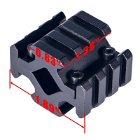 Y0034 Black Barrel Mount Tactical Hunting Universal Four Rail Mount 20mm Picatinny Weaver