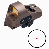 ANS Tactical1x25 Mini Reflex Sight Dot Reticle Red Dot Sight Scope Picatinny QD Mount for Hunting DE