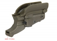 Tactical Red Laser Sight for M92 with Lateral Grooves For Beretta Model 92 96 M9 GZ200020Tan