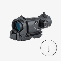 1-4X32F air gun hunting riflescope red Illuminated 11 levels of brightness for shooting scope Black