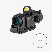 1-4X32F shockproof rifle scope with detachable mini red dot sight weapons for hunting