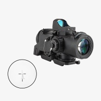 4X32F air riflescope hunting tactical red Illuminated with detachable mini red dot sight  for target shooting game Black