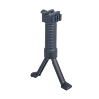 "Tactical Foregrip / Bipod with 2"" Picatinny Rail Black"