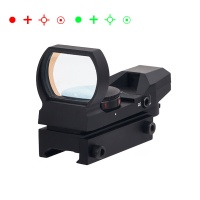 1X22X33mm Red Dot Sight 4 Reticles Red/Green Dot Gun Sight Scope Reflex Sights BK