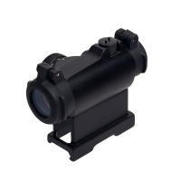 1X24 Illuminated Red Dot Sight With Quick Release Mount and Flip-Up Caps  Black