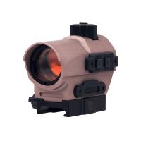 D10 Red Dot Sight 1.5 MOA Manual Key Switch with 20mm Riser Mount Rifle Scope DE
