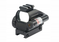 Electro-Dot HD103C +2040/JG4 Holographic Red/Green Reflex Scope & Red Laser Sight Combo For 20 mm Rail 4 Reticles