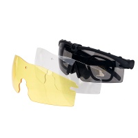 Adjustable Sports Glasses Tactical plastic glasses With Anti-Skid Glasses Strap for  Outdoor Sports BK