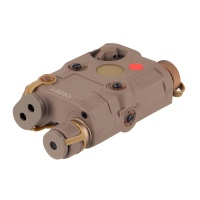 PEQ 15 Red Dot Laser integrated with LED Flashlight IR TAN