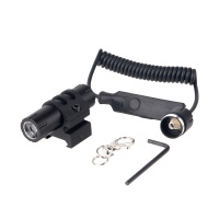Multi-function LED flashlight with Angled Offset Ring Mount for rifles