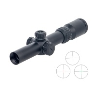 COBRA FANGS 1-4x24 Hunting Riflescope Telescope Rifle Scope Center Red Dot Illumination w/ Mounts Tested  AR15 AK