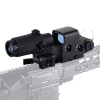G33 Magnifier with Switch to Side Mount + Holographic Weapon Sight 558 Black