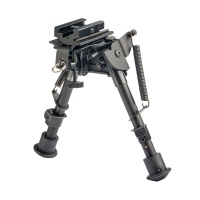 "6"" spring tension tactical bipod with rubber feet"