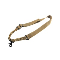 Rifle Adjustable Tactical Single Point Bungee Sling with Quick-release Metal Hook