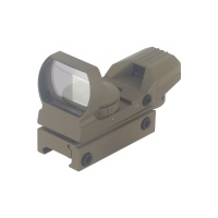 1x22x33 Reflex Sight Red Green Illuminated 4 Reticles Rail Mounted
