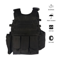Airsoft Military Tactical Vest Combat Assault CS Molle Plate Carrier Black
