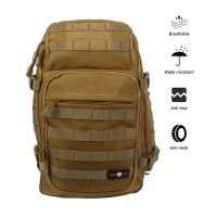 COBRA FANGS 40L Military Tactical Assault Backpack Outdoor Survival Rucksack MOLLE with USB Charging and Water Bladder Hole
