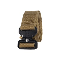 Tactical Cobra Buckle Riggers Belt Duty Military Soldier Combat Patrol Waistband with QR Aluminum Buckle DE