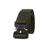 Tactical Cobra Buckle Riggers Belt Assault Gear Duty Military Soldier Combat Patrol with QR Aluminum Buckle Green