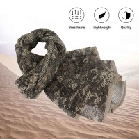 Tactical Military Neck Scarf Mesh Sniper Veil Head Wrap ACU