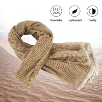 Tactical Military Neck Scarf Mesh Sniper Veil Head Wrap Desert