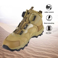 Auto Lace-Up Tactical Military Combat Army Leather Boots for Trekking Climbing