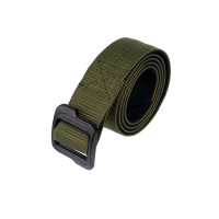 Military Nylon Belt Elastic with Plastic Buckle Green