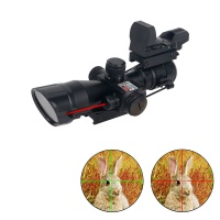 2.5-10x40 Rifle Scope w/ Laser and 4 Reticle Reflex Sight