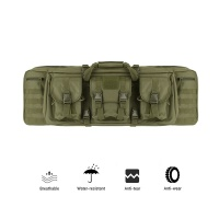 "Tactical Military 42"" Double Rifle Case Green"