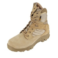 Tactical Boots Zip Leather Duty Military Combat Boots