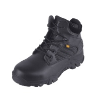 Tactical Sport Boots Leather Zip Duty Military Combat oots