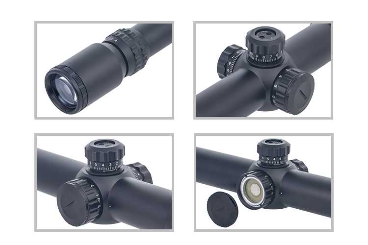 1-4X24 Riflescope Red Green Mil-Dot Reticle