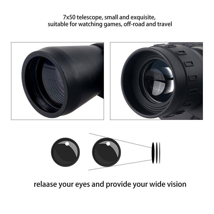 7X50 Lightweight Binoculars With Strap And Case