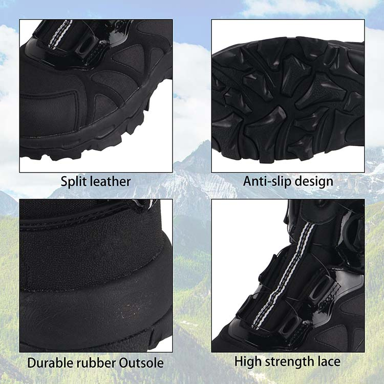Auto Lace-Up Tactical Military Combat Army Leather Boots